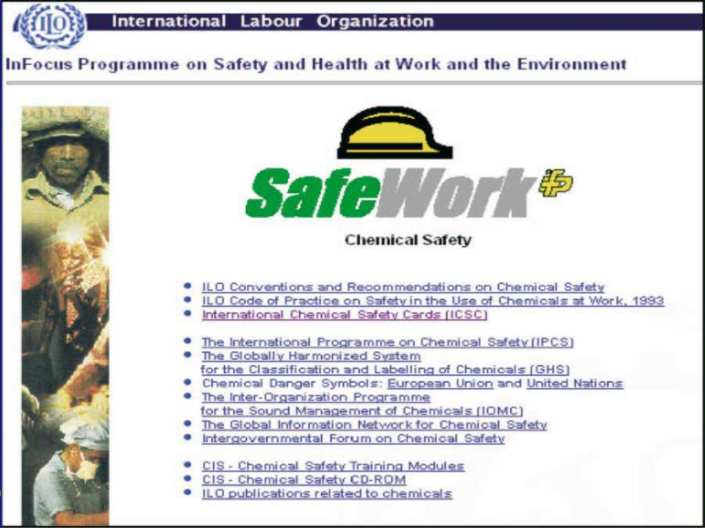 ILO Chemicals webpage