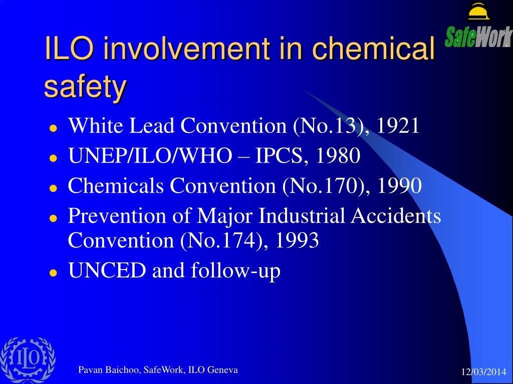 ILO involvement in chemical safety
