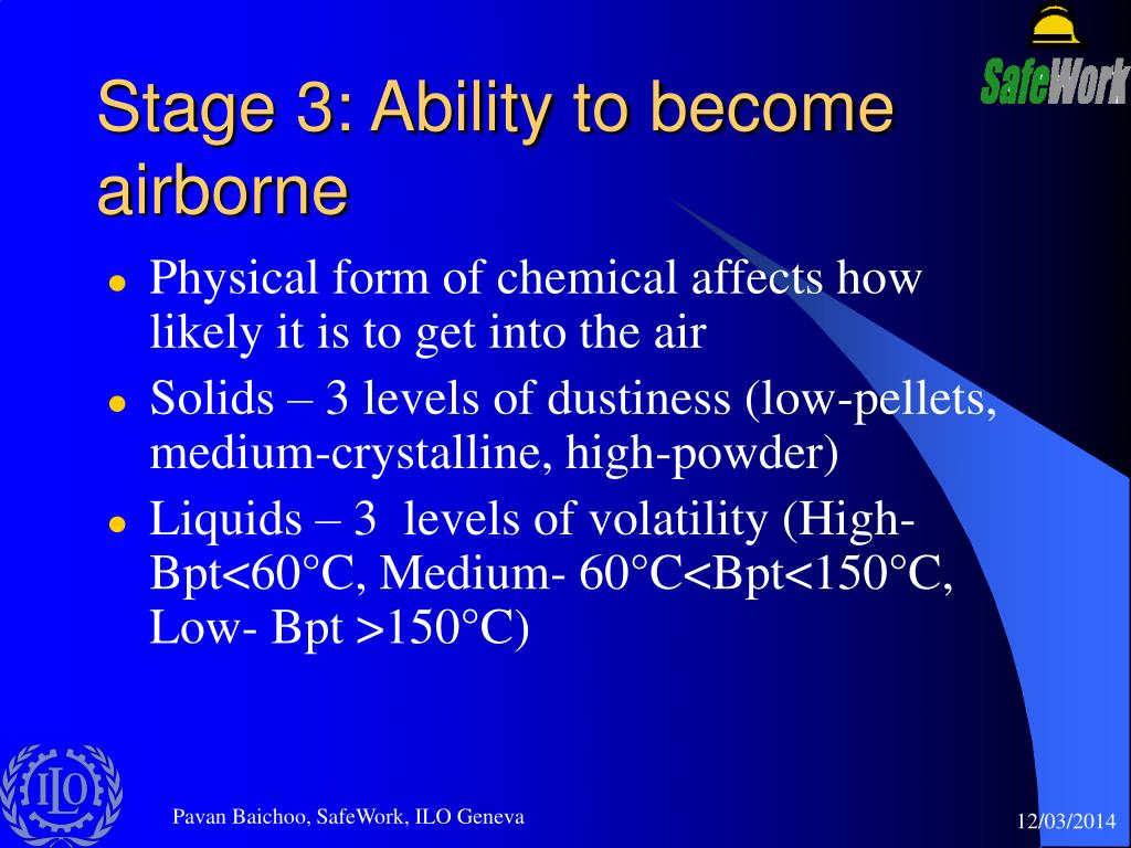 Stage 3: Ability to become airborne