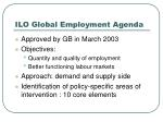 ilo global employment agenda