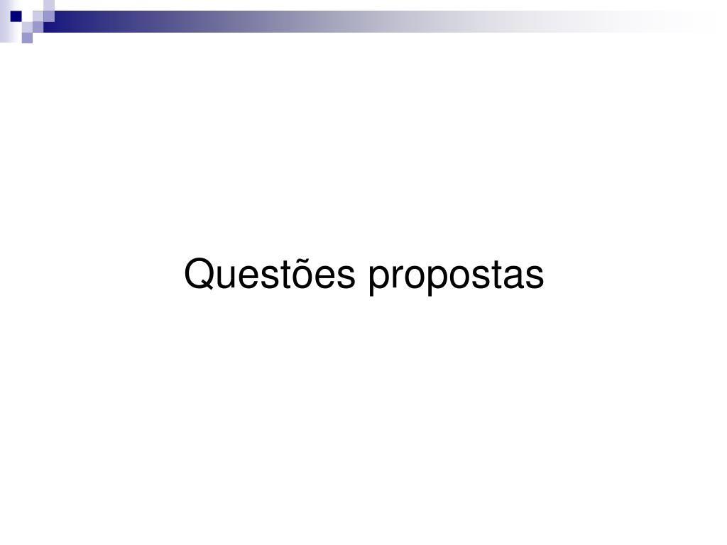 Questões propostas
