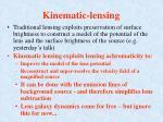 kinematic lensing