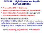 future high resolution rapid refresh hrrr