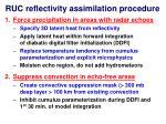 ruc reflectivity assimilation procedure