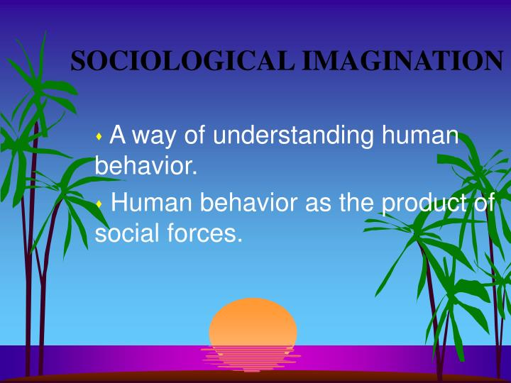 sociology and sociological imagination concepts
