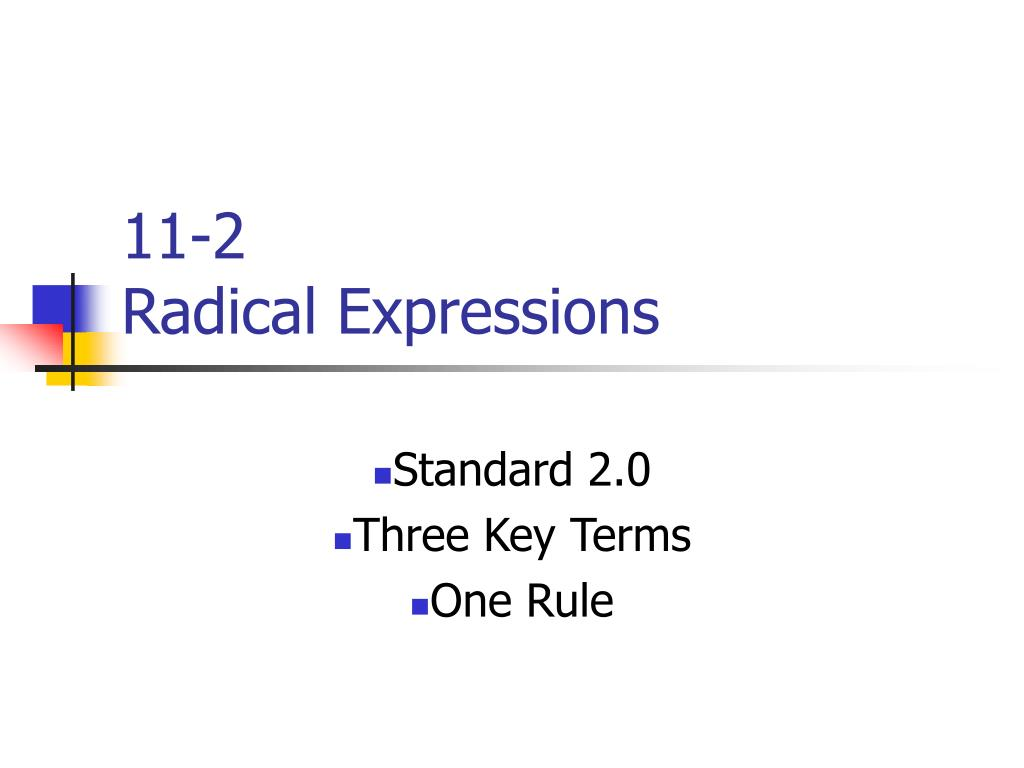 11 2 radical expressions