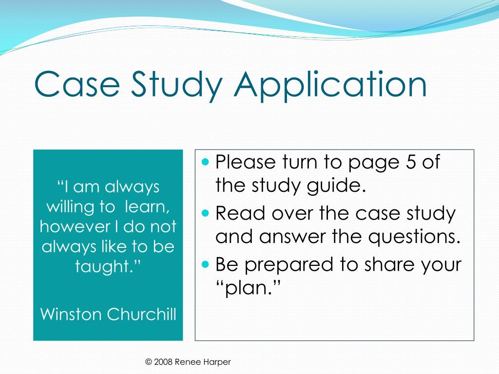 Case Study Application