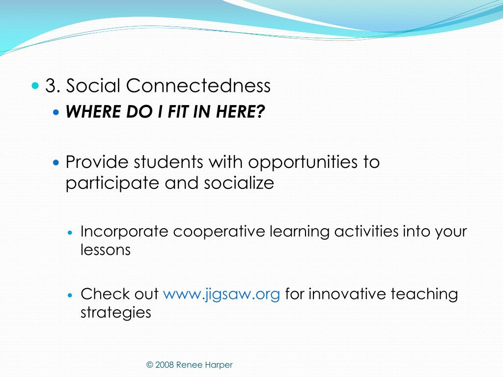 3. Social Connectedness
