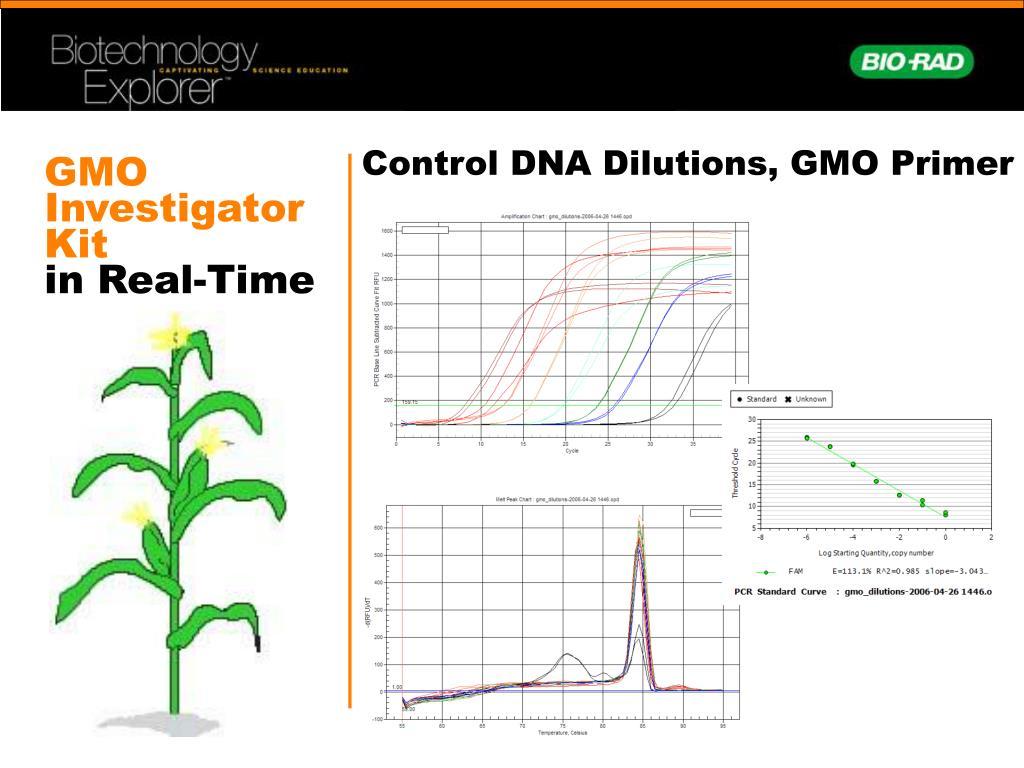 Control DNA Dilutions, GMO Primer