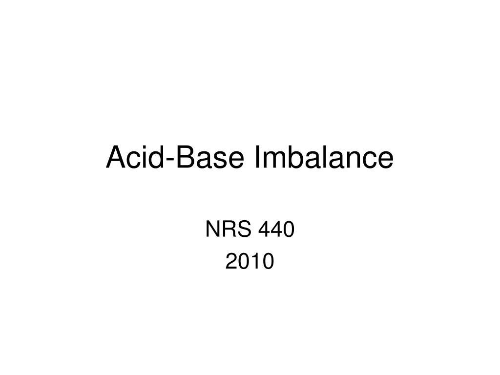 acid base imbalance