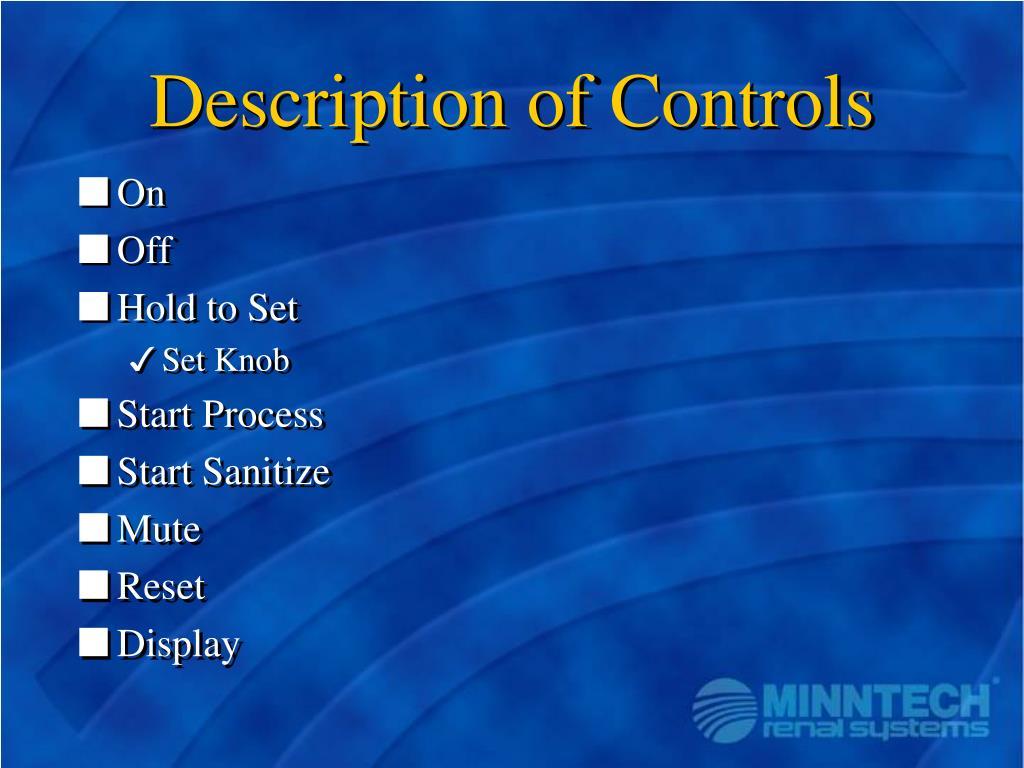 Description of Controls