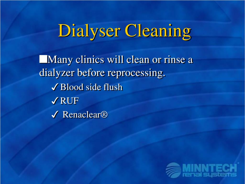 Dialyser Cleaning