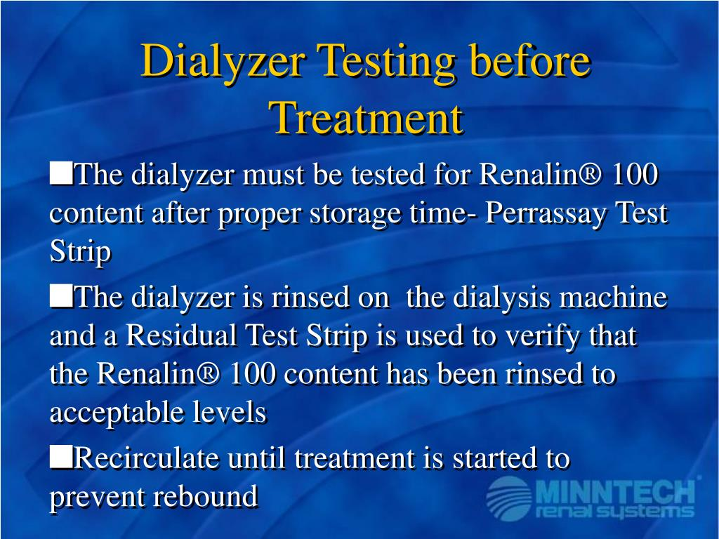 Dialyzer Testing before Treatment