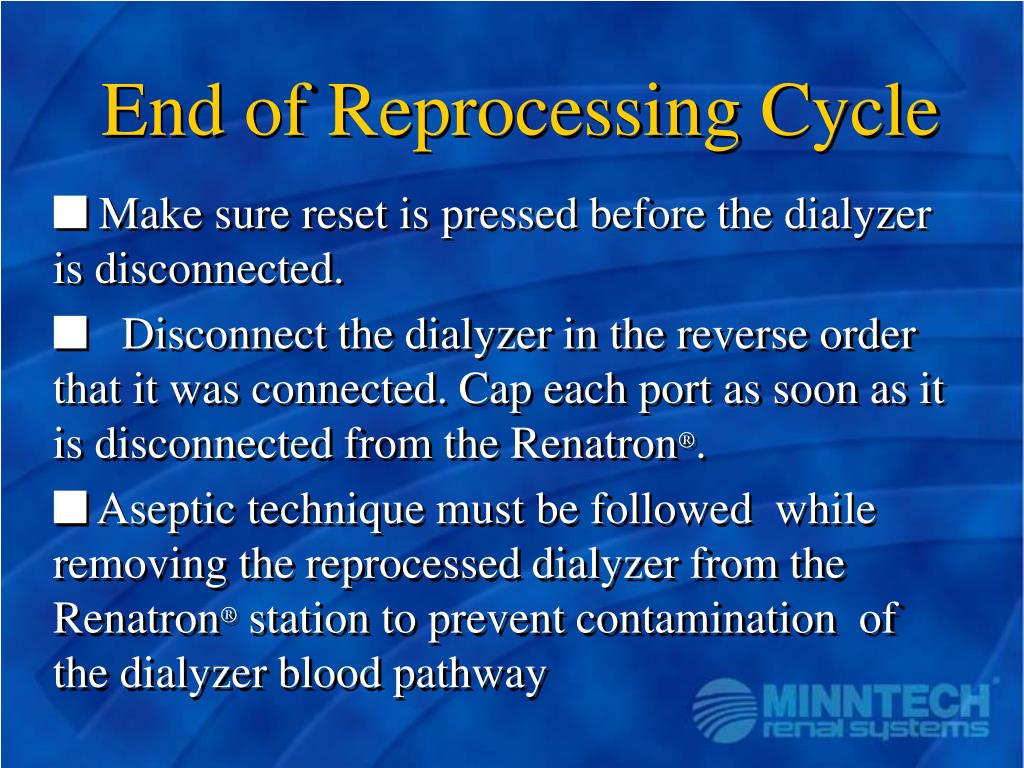 End of Reprocessing Cycle