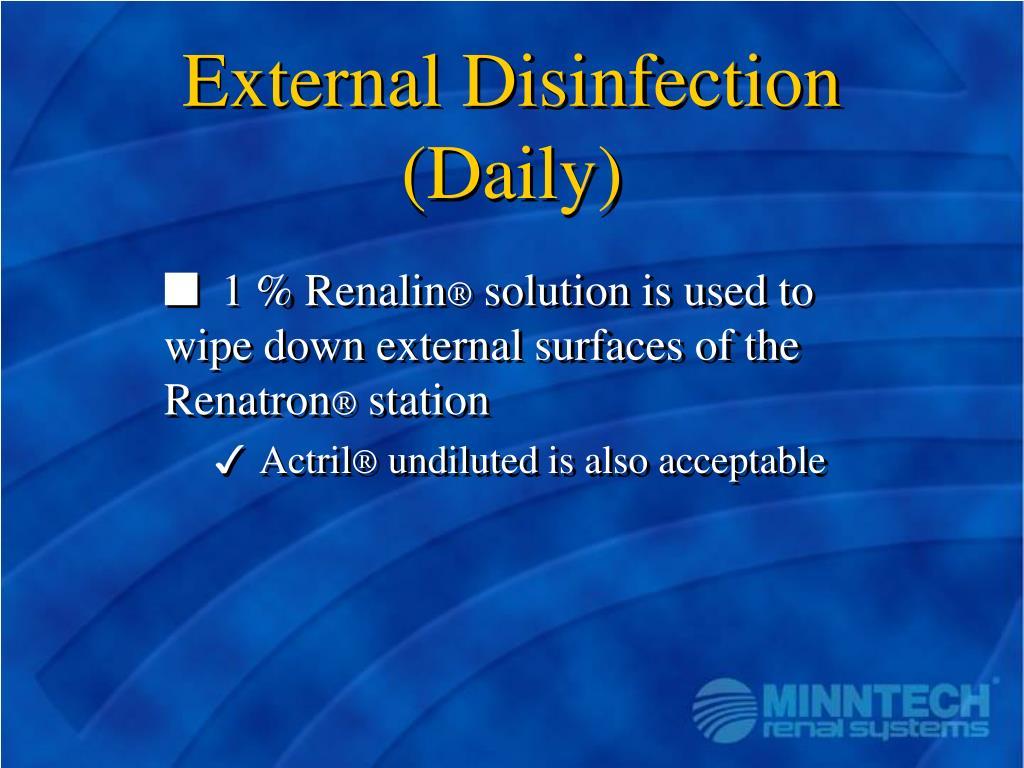 External Disinfection