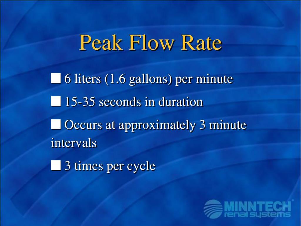 Peak Flow Rate