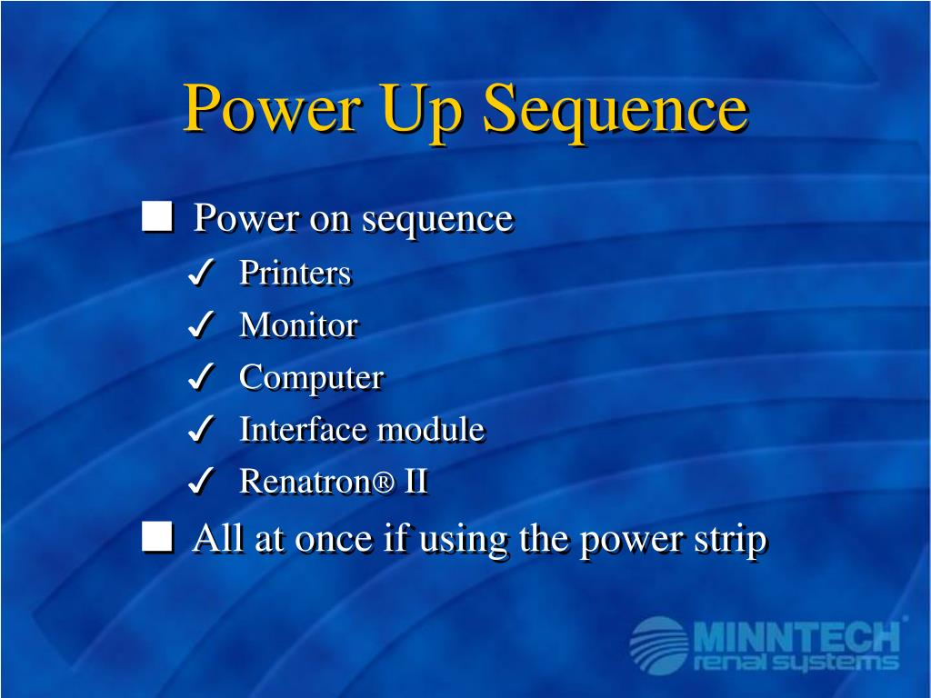Power Up Sequence