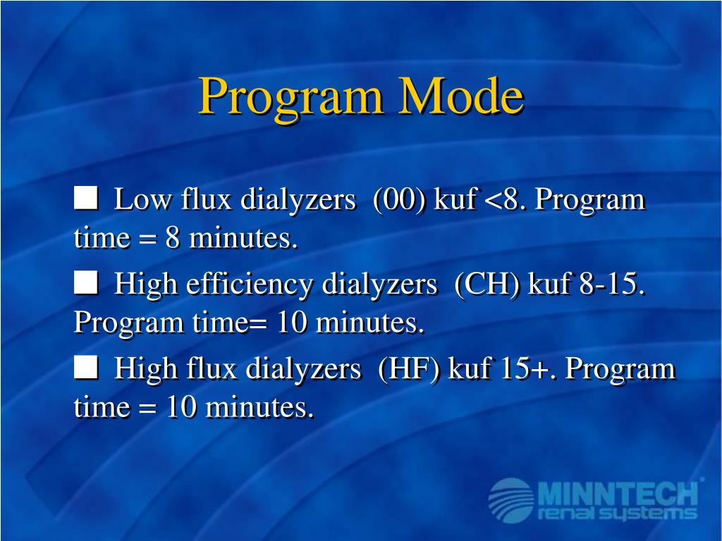 Program Mode