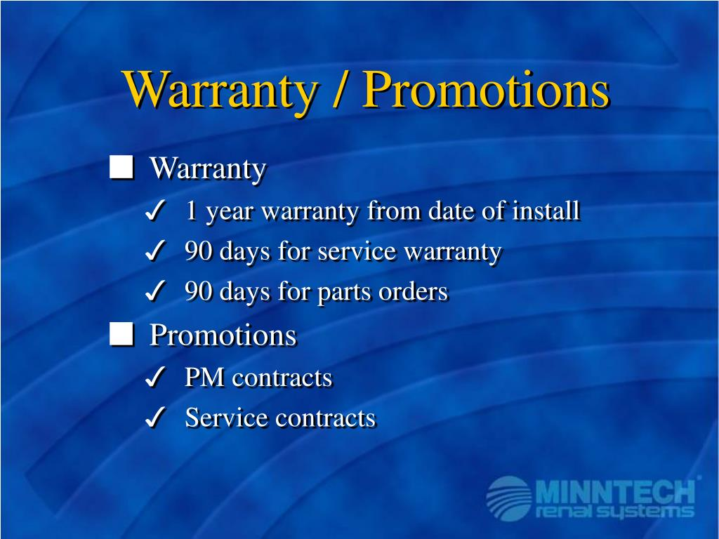 Warranty / Promotions