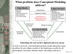 what problem does conceptual modeling address