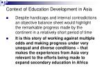 context of education development in asia4