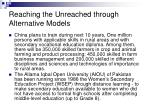 reaching the unreached through alternative models31