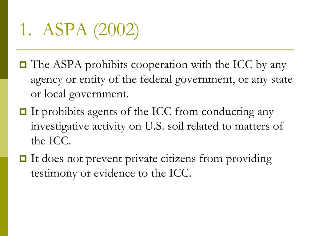 1.  ASPA (2002)