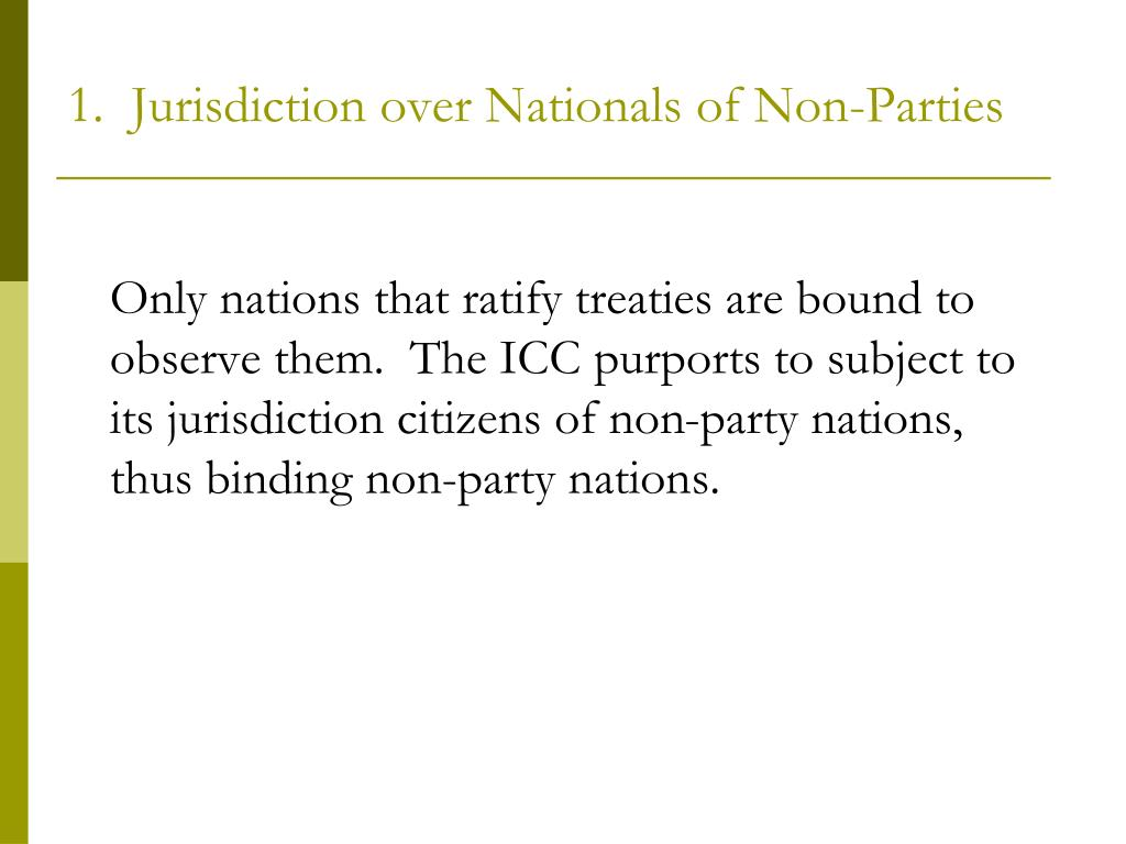 1.  Jurisdiction over Nationals of Non-Parties