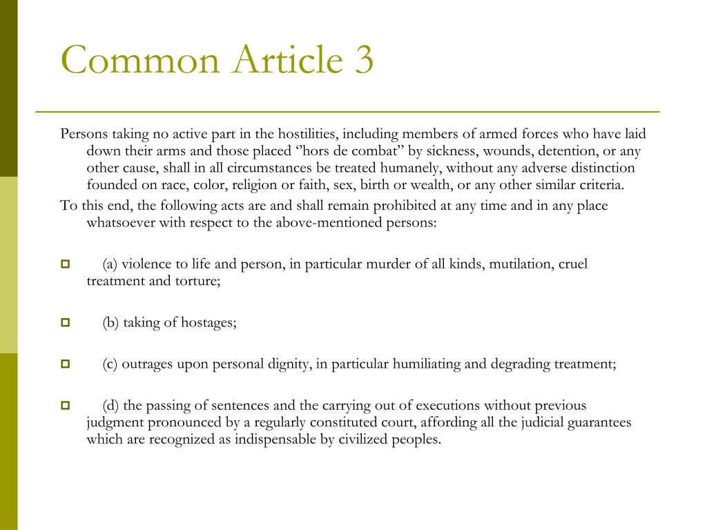 Common Article 3