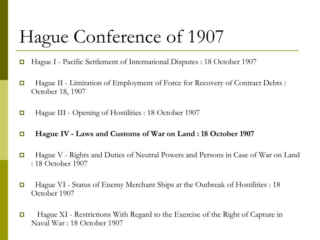 Hague Conference of 1907