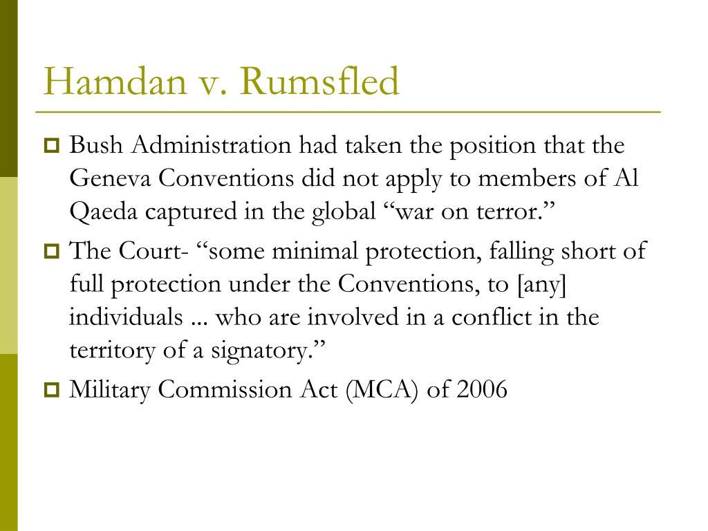 Hamdan v. Rumsfled