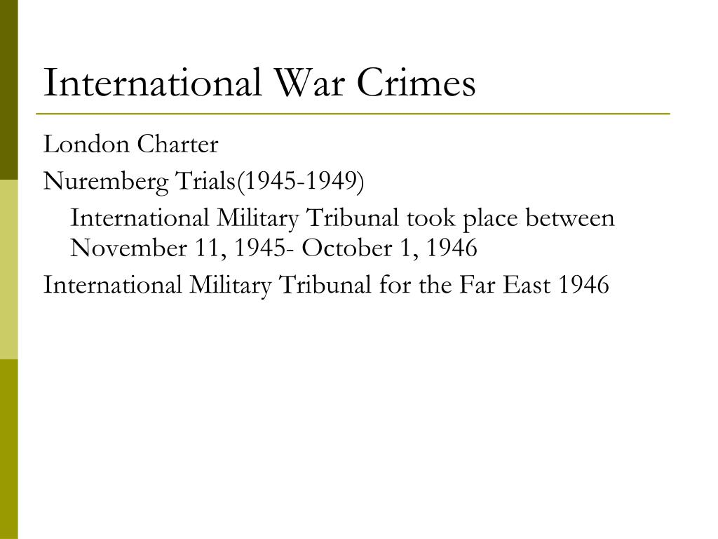 International War Crimes