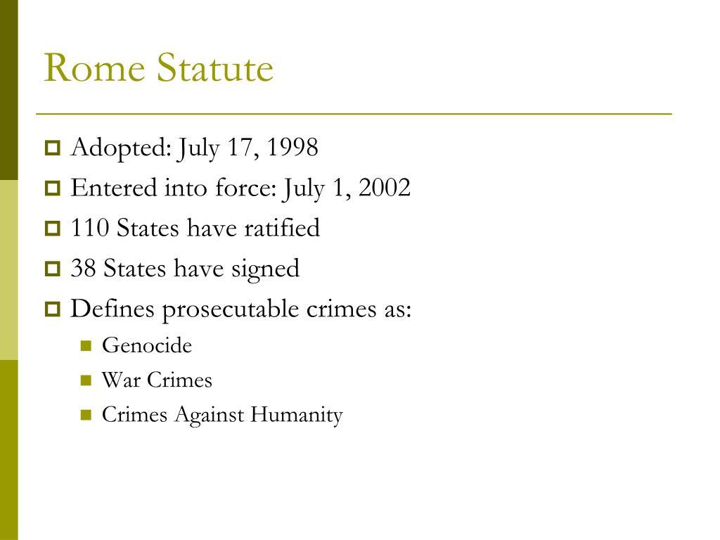 Rome Statute