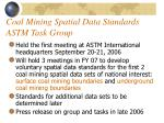 coal mining spatial data standards astm task group