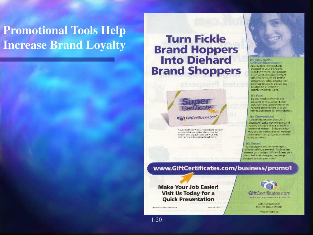 Promotional Tools Help