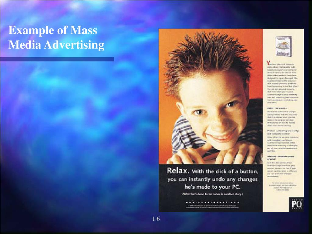 Example of Mass Media Advertising