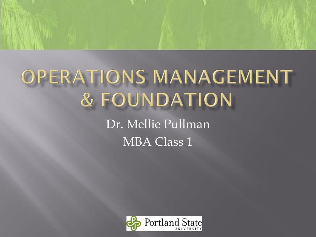 operations management foundation