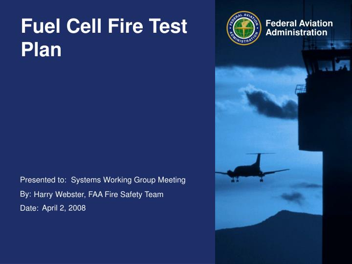 Fuel cell fire test plan