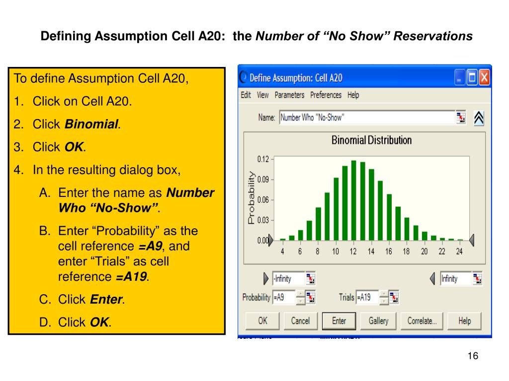 Defining Assumption Cell A20:  the