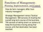 functions of management planning implementation and control3