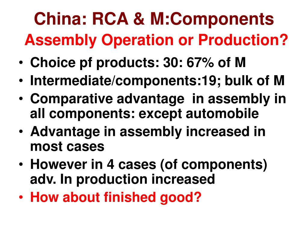 China: RCA & M:Components