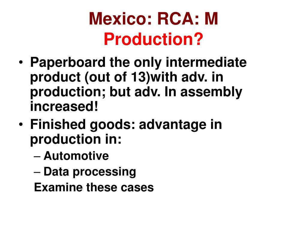 Mexico: RCA: M