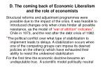 d the coming back of economic liberalism and the role of economists