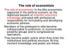 the role of economists