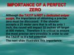 importance of a perfect zero