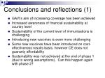 conclusions and reflections 1