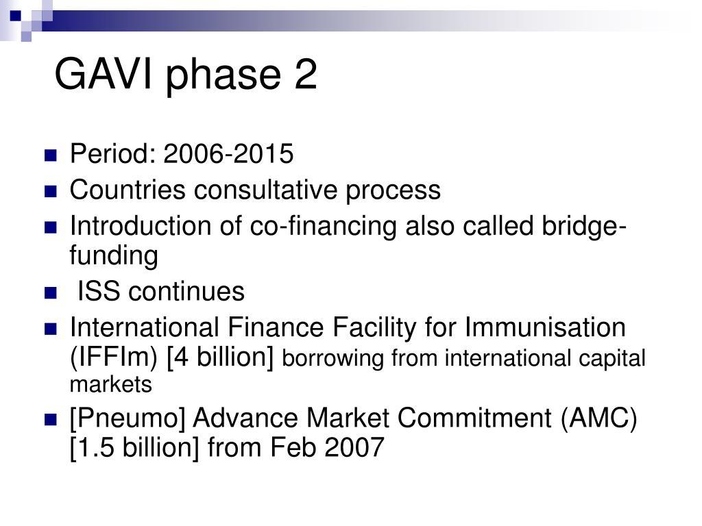 GAVI phase 2