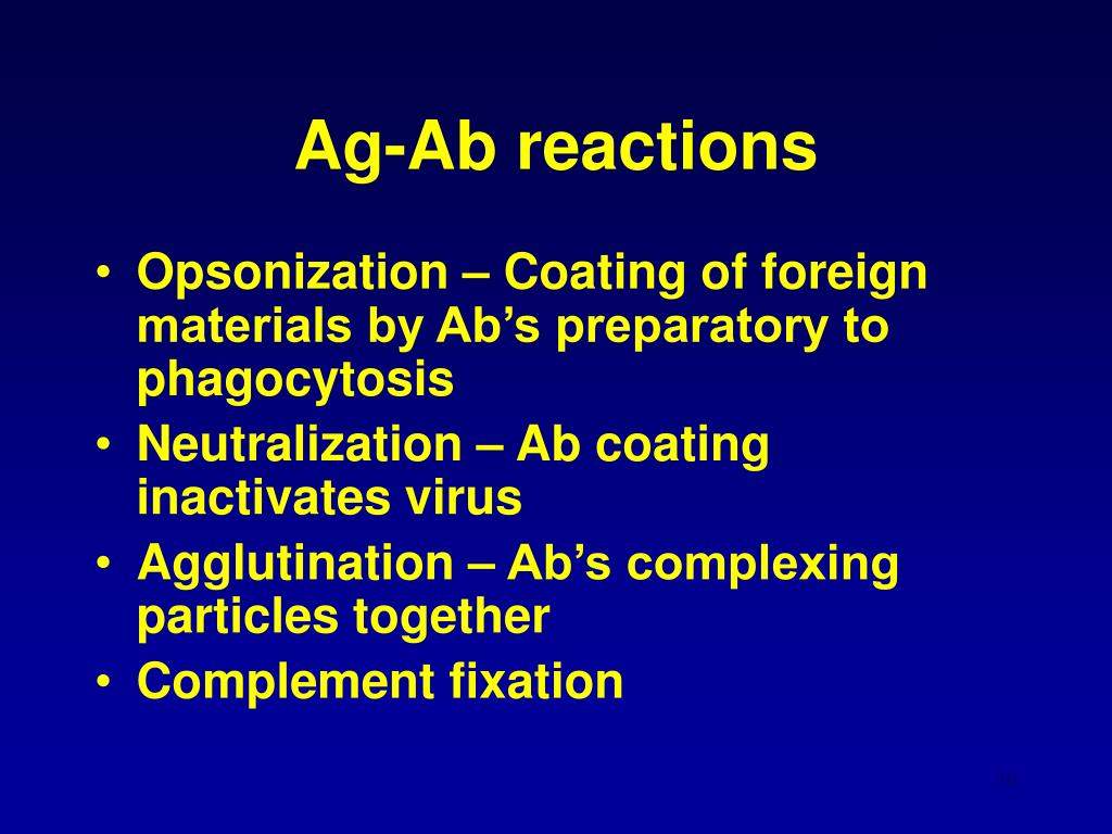 Ag-Ab reactions