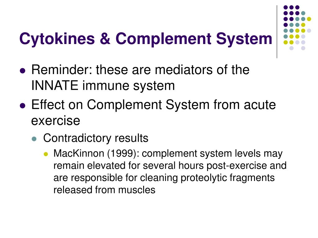 Cytokines & Complement System
