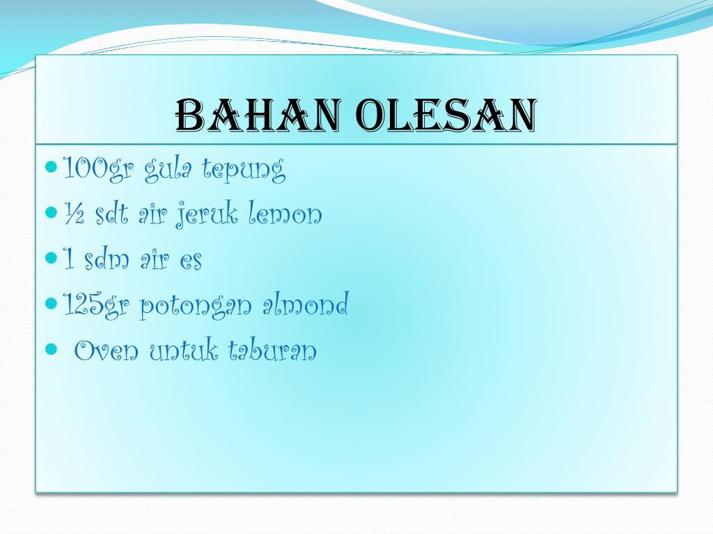 BAHAN OLESAN
